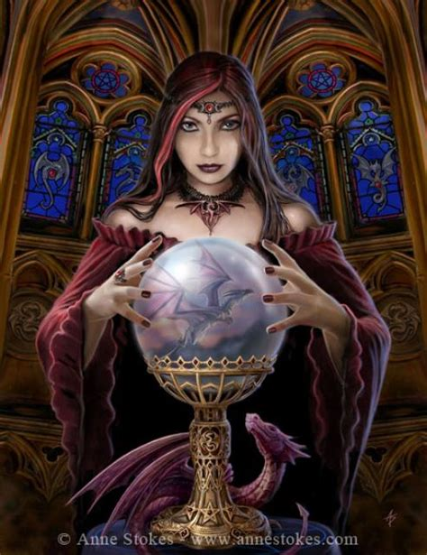 fairy magyk ecards anne stokes crystal ball