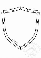 Shield Template Vector Metal Coloring Security Guard Getdrawings sketch template