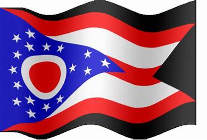 Flag Ohio Clip Animated Clipart Waving State