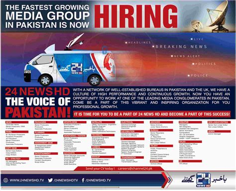 Channel 24 News Jobs 2017 Available For 100s Of Vacancies In 28+ Departments  Paperpk Jobs