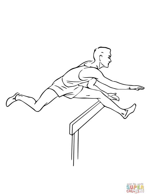Atletiek Kleurplaat by Coloriage Hurdleur De Course De Haies Coloriages 224