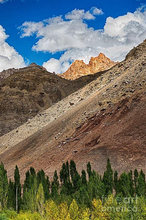 Kashmir Shower Curtain by Landscape Of Leh Ladakh Jammu And Kashmir India Photograph
