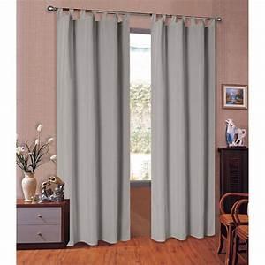 Vorhang Grau Blickdicht : 20400 grau 175x145 vorhang blickdicht schlaufenschal aus microsati ~ Orissabook.com Haus und Dekorationen