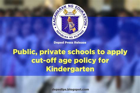 public private schools apply cut age policy kindergarten