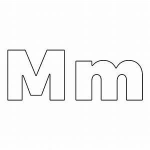 Letter M  2 Piece Die Set