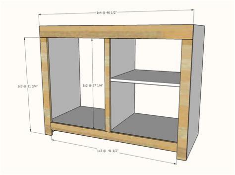 barn door cabinet  mini fridge  microwave ana white