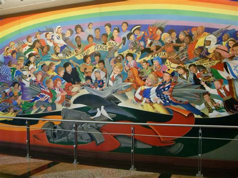 Denver Airport Conspiracy Murals by Race Lies Inside The Coming New World Order Society