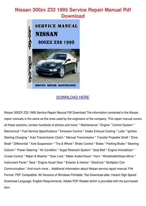 online car repair manuals free 1995 nissan 300zx user handbook nissan 300zx z32 1995 service repair manual p by yvonnetaber issuu