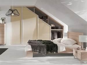 1001 idee pour un dressing sous pente gain de place With deco chambre sous pente