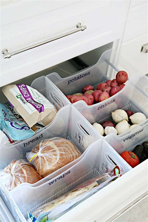 easy  clever hacks  organize kitchen cabinets