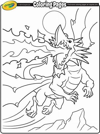 Dragon Coloring Crayola Fire Breathing Sketch