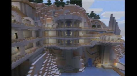 zims minecraft builds  mountain side creation xbox  edition youtube