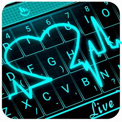 Neon Heart Keyboard Theme 3d Apk Mod