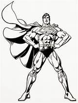Superman Coloring Pages Steel Printable Colouring Super Sheets Hero Batman sketch template