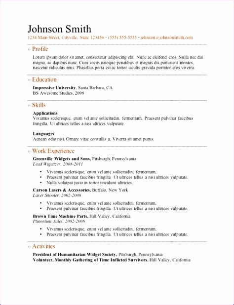 Excellent Cv Templates by 11 Excellent Cv Templates Free Exceltemplates