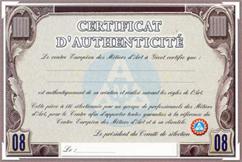 chambre des metiers 33 certificat d 39 authenticité