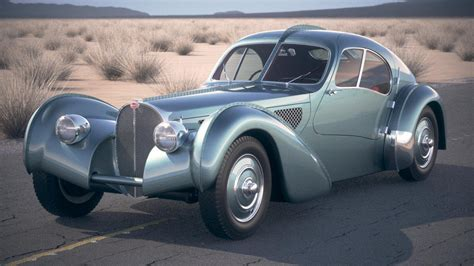 Sort 57sc atlantic sells for a report 30. Bugatti Type 57SC Atlantic 1938 DesertStudio 3D Model in Classic Cars 3DExport