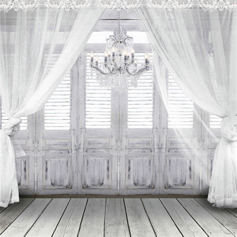 Backdrops 10x10 by 10x10 Ft Fundo White Chandelier Doors Wedding