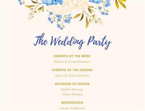 Design Beautiful Wedding Program For Free In Canva