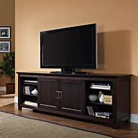 70 inch tv stand Walker Edison Solid Wood 70 inch TV Stand with Sliding ...