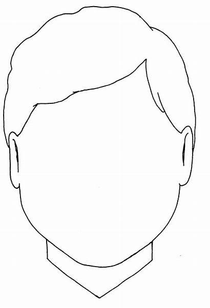 Blank Coloring Face Boy Head Faces