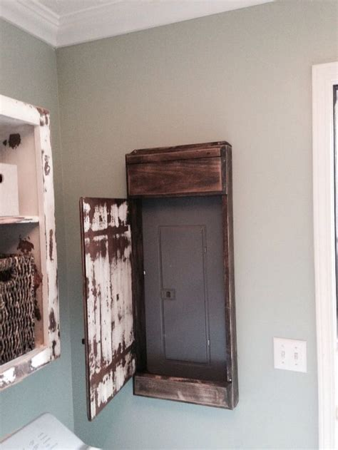 hubby   sweet distressed door cover   electrical panel   laundry room