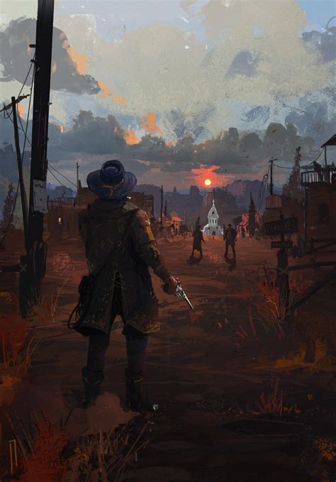 Wallpaper Ismail Inceoglu Fan Art Red Dead Redemption