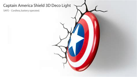 the captain america shield 3d deco light