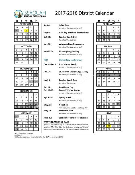 issaquah school district calendar qualads
