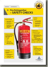 fire extinguisher safety checks health  safety authority