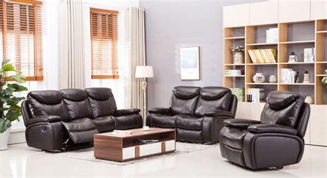 Dallas Recliner Leather Sofa Set