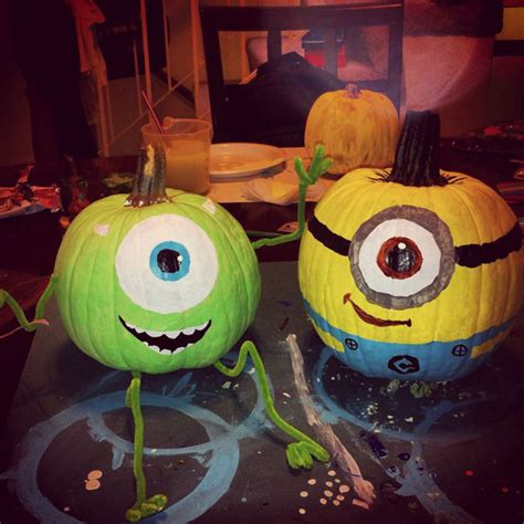 cool painted pumpkins 25 cool diy minion pumpkins for halloween home design and interior