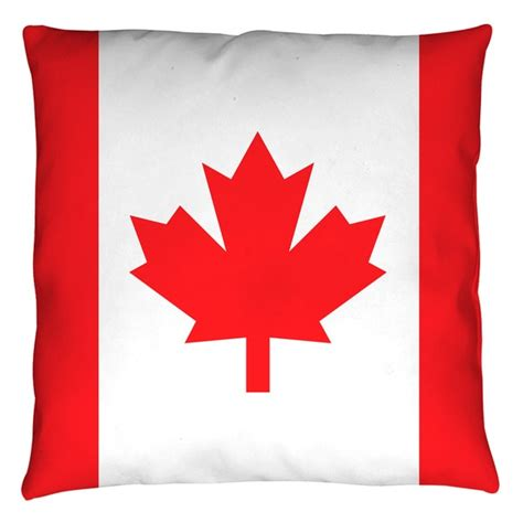 canadian flag of canada pillow throw teeshirtpalace