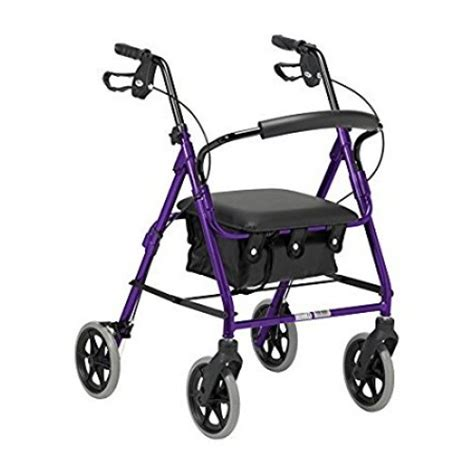 lightweight folding rollator walker with padded seat