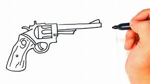 How to draw a Revolver | Revolver Gun Easy Draw Tutorial ...