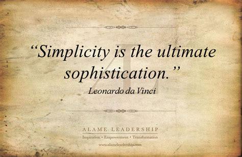 leonardo da vincis week al inspiring quote  simplicity