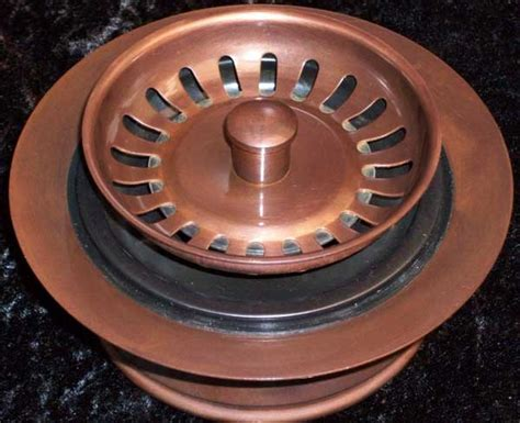 Solid Copper Kitchen Drains and Disposal Flanges for