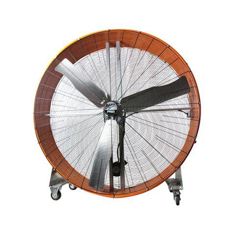 max air pro fan maxxair pro 60 in 2 speed drum fan with steel casters