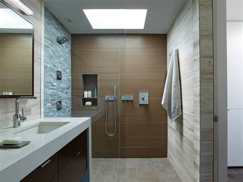 Modern Bathroom With Wood Tile by 15 Wood Tile Showers For Your Bathroom