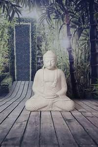 Statue Bouddha Maison Du Monde : statue bouddha dhyana mudra 55 cm blanc ~ Teatrodelosmanantiales.com Idées de Décoration