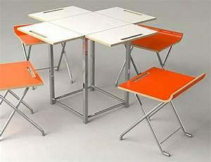 Table De Cuisine Et Chaises : designs cr atifs de table pliante de cuisine ~ Teatrodelosmanantiales.com Idées de Décoration