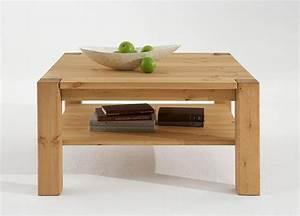 Couchtisch Holz Natur : massivholz couchtisch 90x90 sofatisch wohnzimmertisch kiefer natur ~ Markanthonyermac.com Haus und Dekorationen