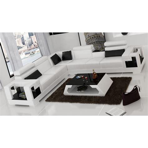 canap駸 d angle en cuir canape d angle en cuir canap d 39 angle gauche cuir noir hudson decoration salon