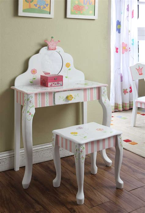 girls white vanity table makeup table teenager girls collection also dressing