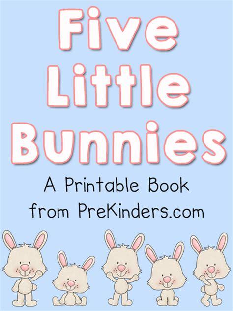 bunnies printable book prekinders