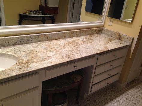 Colonial Cream Single Bowl Vanity - Granite America