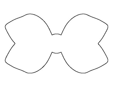 Template Of A Bow by Hair Bow Pattern Use The Printable Outline For Crafts