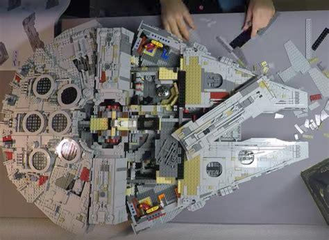timelapse   giant millennium falcon lego build