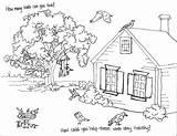 Coloring Backyard Patio Drawing Sketch Template sketch template