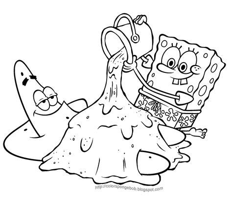 kids coloring pages spongebob coloring pages